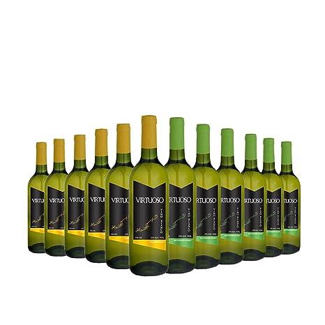 Selección Premium de 12 botellas de vino blanco Virtuoso: 6 Chardonnay + 6 Sauvignon Blanc