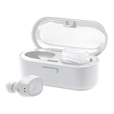 dc928f572a4 Fisher True Wireless Earbuds with Charging Case, Auto Earbud Pairing, Auto  Bluetooth Paring,