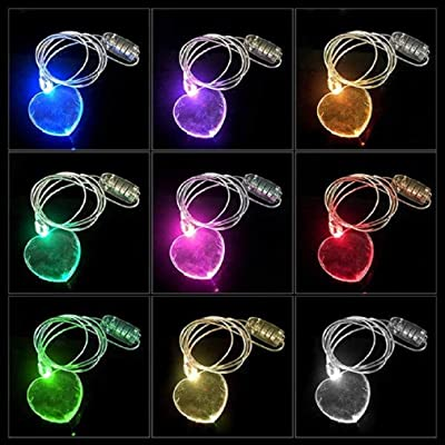 Mammoth Sales LED Light Up Color Changing Valentine's Day Heart Necklace: Toys & Games