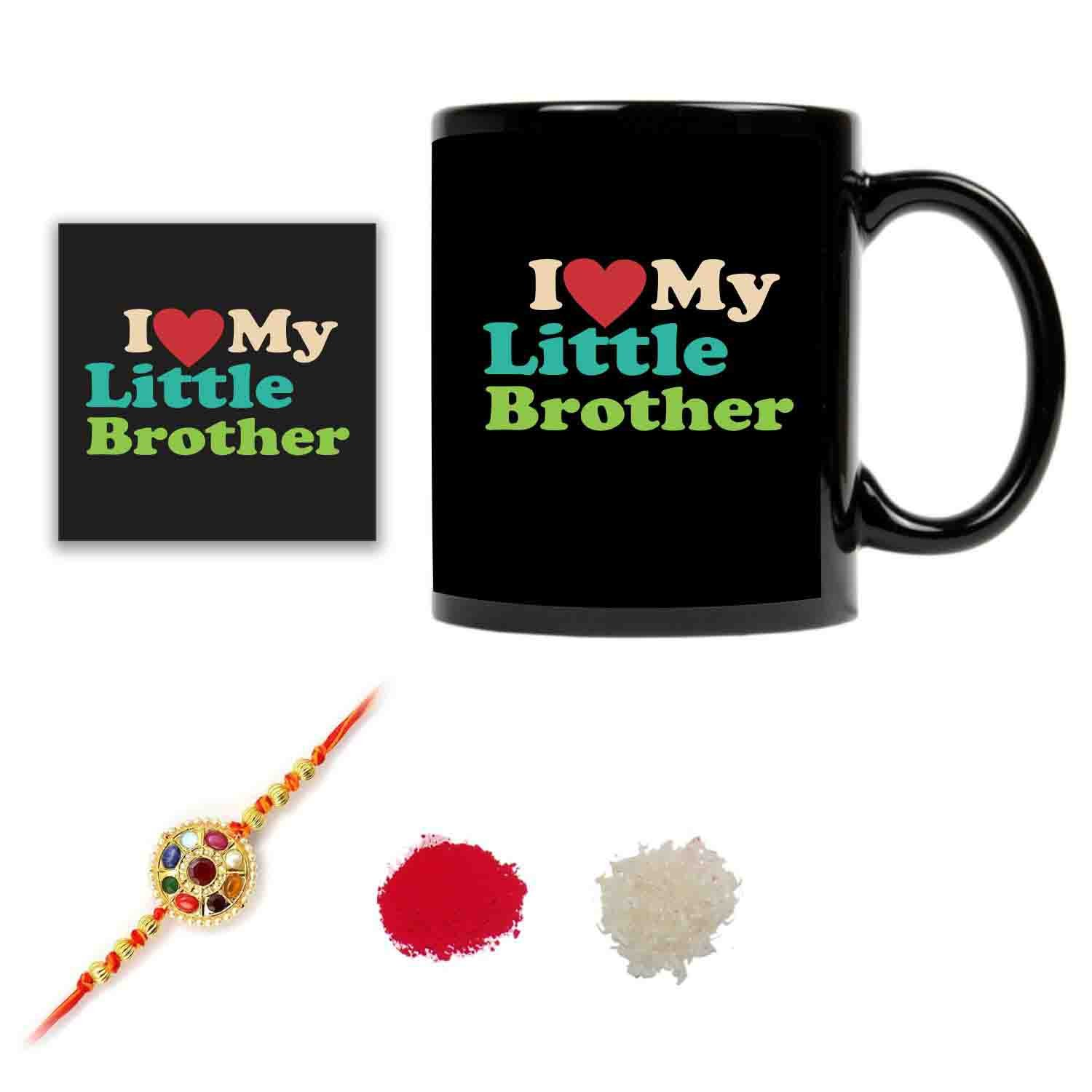 Birthday Gifts For Kids Brother I Love My Little MugBirthday Coaster Gift Combo Of 4 By Giftsmate Amazonin Jewellery