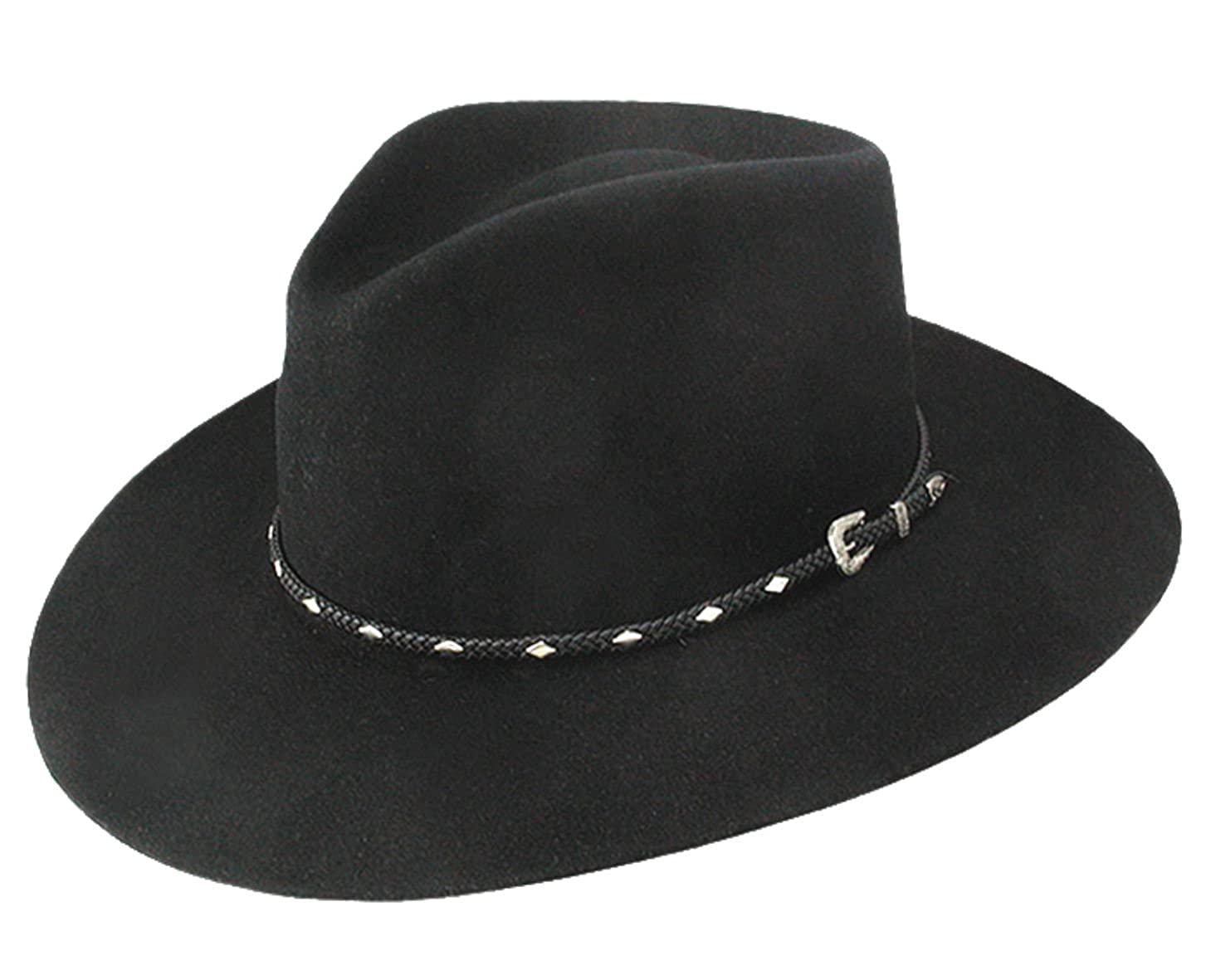 0f11d16c Stetson Men's 4X Diamond Jim Fur Felt Cowboy Hat at Amazon Men's Clothing  store: