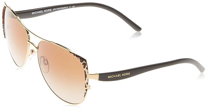 7b30de1b9b98 Michael Kors SADIE 1 MK1005 Sunglasses 105713-59 - Black Gold Leopard/black  MK1005