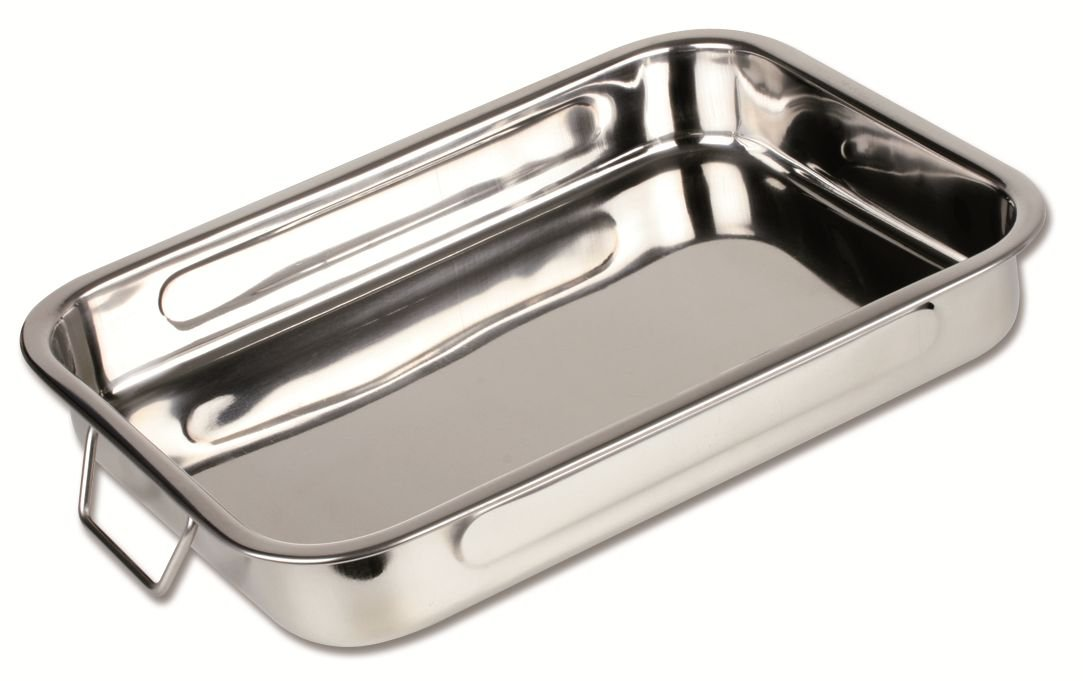 Chef Direct Stainless Steel Roast Pan With Folding Handles - Length 40 Cm X Width 28 Cm // Chef Direct // Rustidera Inox Con Asas Abatibles