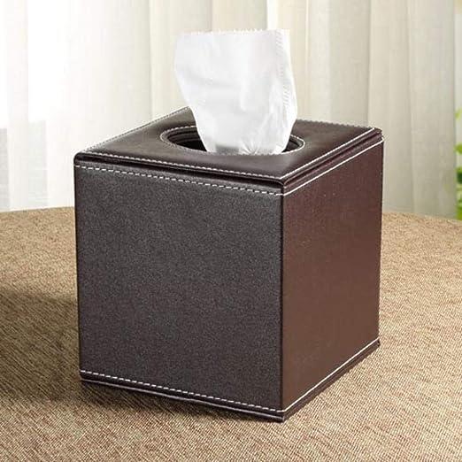 Llxxx Caja de pañuelos-Caja Cuadrada del Tejido de la Sala de ...
