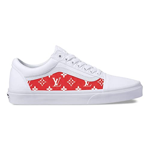 72c078f29d7 Amazon.com  Vans Old Skool x LV Custom Handmade Uni-Sex Shoes By Patch  Collection  Handmade