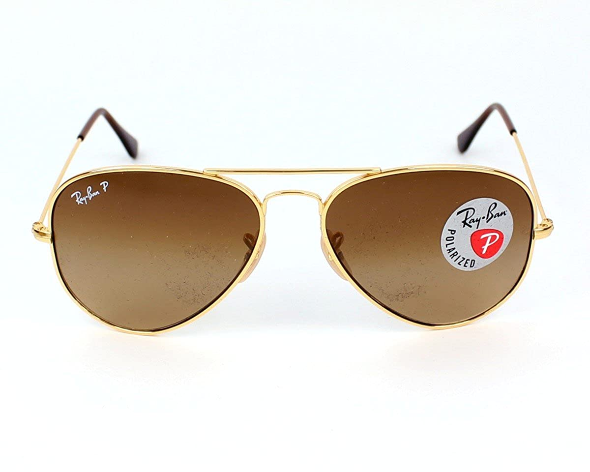 2264460a736 Ray Ban Sunglasses RB 8041 RB8041 001 M2 Titanium Gold Brown polarized   Amazon.co.uk  Clothing