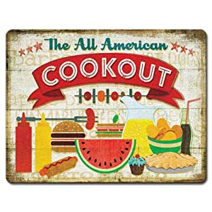 American Cookout - Large Glass Cutting Board
