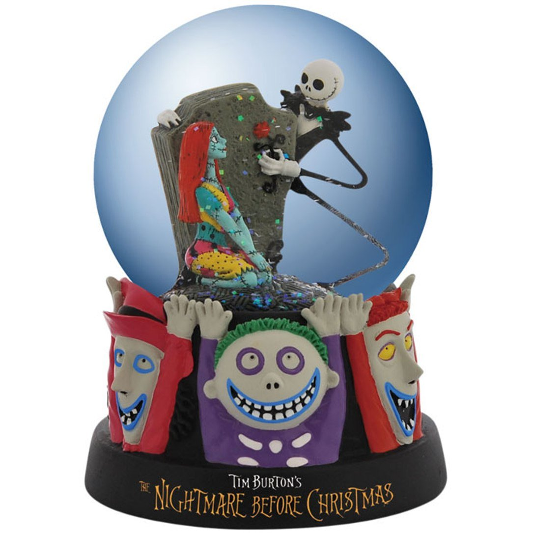 Westland Giftware Water Globe Figurine, 85mm, Disney Nightmare Before Christmas Celebrating Our Love 25205