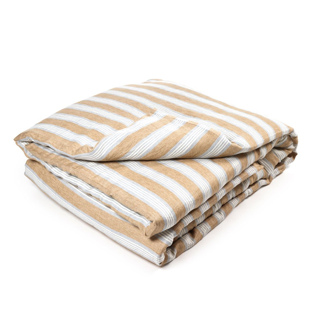 Leinen Bettbezug Maora 200x200 cm, Stripe - Libeco Home