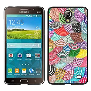 Samsung Galaxy Mega 2 / SM-G750F / G7508 Único Patrón Plástico Duro Fundas Cover Cubre Hard Case Cover - Beret Crocheted Wool Purple Teal Scales