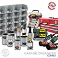 Steellabels - Garage Organizer Kit - Chrome Foil Socket Labels - Toolboxes - Storage bins - Circuit Breaker & Assembly Tackleboxes ULTIMATE VALUE bundle for the Craftsmen by Advanced Product Design