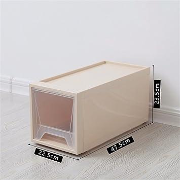 XIAOJUNJUN Cajón Caja De Almacenamiento De Plástico Transparente De Juguete Armario Ropa Caqui, 47,5 * 22,5 * 23,5 Cm Cajas De Almacenamiento Cajas De ...