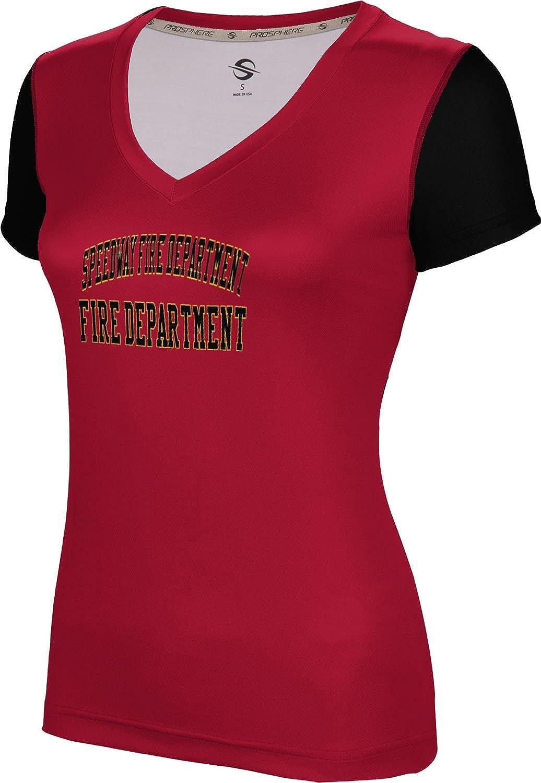 ProSphere Women's Speedway Fire Department Crisscross SL V-Neck Training Tee