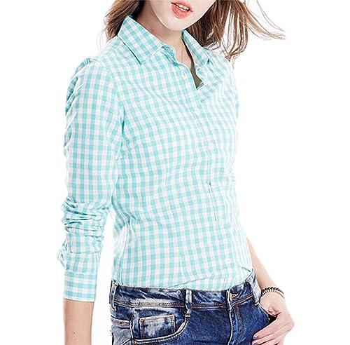 SUNDAY ROSE - Camisas - Cuadrados - Manga Larga - para mujer