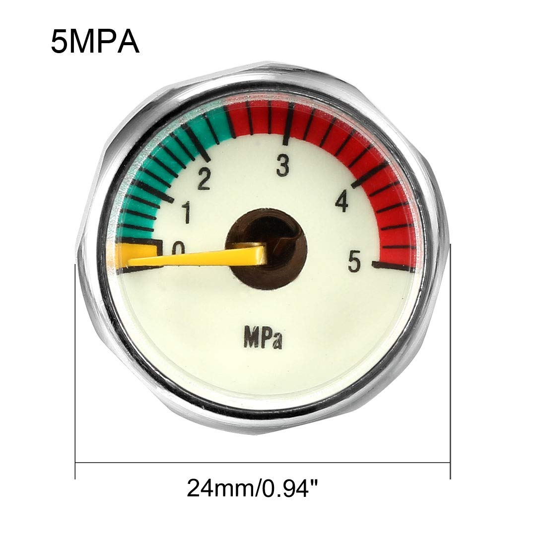 uxcell Diving Pressure Gauge 30MPA M8 Luminous Pony Bottle High Pressure Mini Manometer Universal Gauges for Scuba Diving