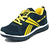 Asian Shoes Boy's Junior Navy Blue Yellow Shoes