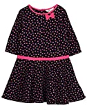 Beebay Girls 100% Cotton Woven Small Floral Print Corduroy Dress (Navy,8 Years)