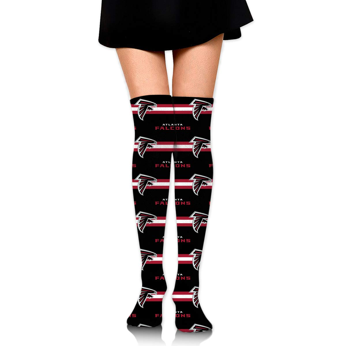 Sorcerer Custom Girls Over Knee High Boot Stockings Leg Warmers Atlanta Falcons Women's Polyester Thigh High Socks Gift by Sorcerer