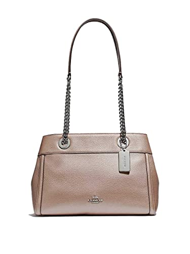 d72a9bb632b Image Unavailable. Image not available for. Color  Coach Leather Brooke  Chain Carryall Purse ...