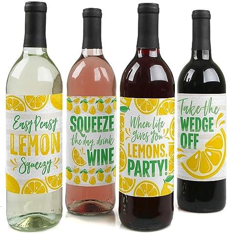 Lemonade Birthday Party Favors Sheet of 20-2 round Lemonade Party Stickers 2 Inch Round Lemonade Birthday Party Stickers