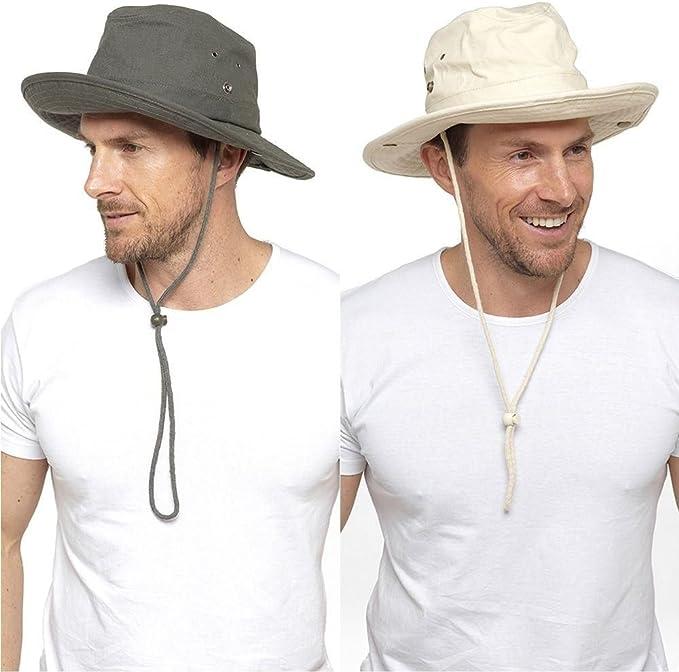 para Hombre algodón Safari Sombrero Marrón Natural: Amazon.es: Ropa y accesorios