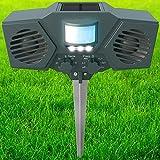 PestZilla Robust Solar Power Ultrasonic Pest Repeller with Flashing LED lights Outdoor Animal