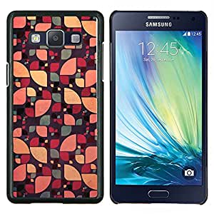 Patrón Sun floral abstracto del color verde- Metal de aluminio y de plástico duro Caja del teléfono - Negro - Samsung Galaxy A5 / SM-A500