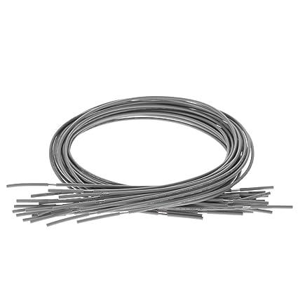 ammoon 20pcs Blindado Circuito de Guitarra Cable Solo Conductor Para Guitarra Eléctrica 51cm / 20in Gris