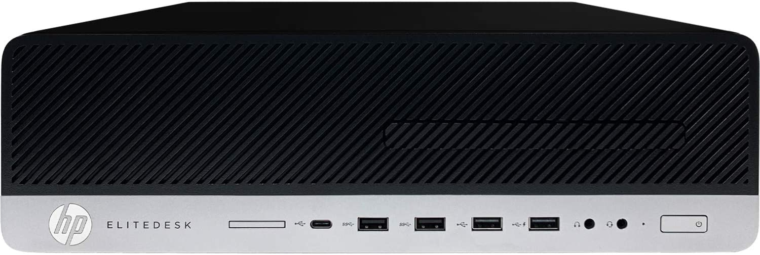 HP EliteDesk 800 G4 Small Form Factor Desktop Computer - 8th Gen Intel Core i7-8700 Processor up to 4.60 GHz, 16GB DDR4 Memory, 1TB SSD, Intel UHD Graphics 630, DVD±RW Drive, Windows 10 Pro (64-bit)