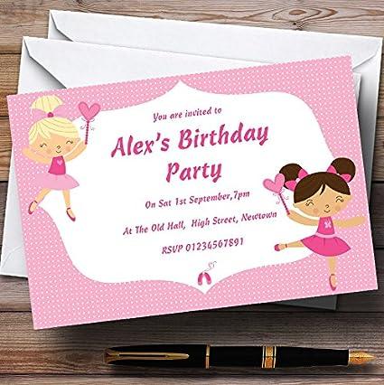 Pretty rosa bailarina ballet personalizado cumpleaños ...