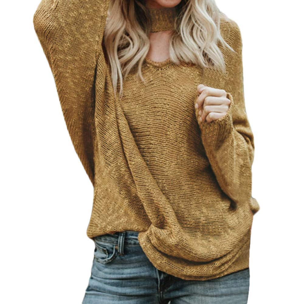 URIBAKE ❤️ Fashion Womens Knitted Pullover Winter Loose Solid Ladiess Sweater Jumper Tops T-Shirts Blouse