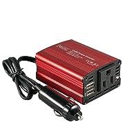 Foval 150W Car Power Inverter 12V DC to 110V AC Converter with 3.1A Dual USB Car...