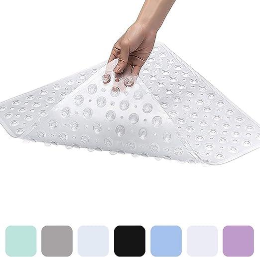 "Durable 21/""X21/""PVC Bath Mat Transparent Square Bathtub Massage Mat Free Shipping"