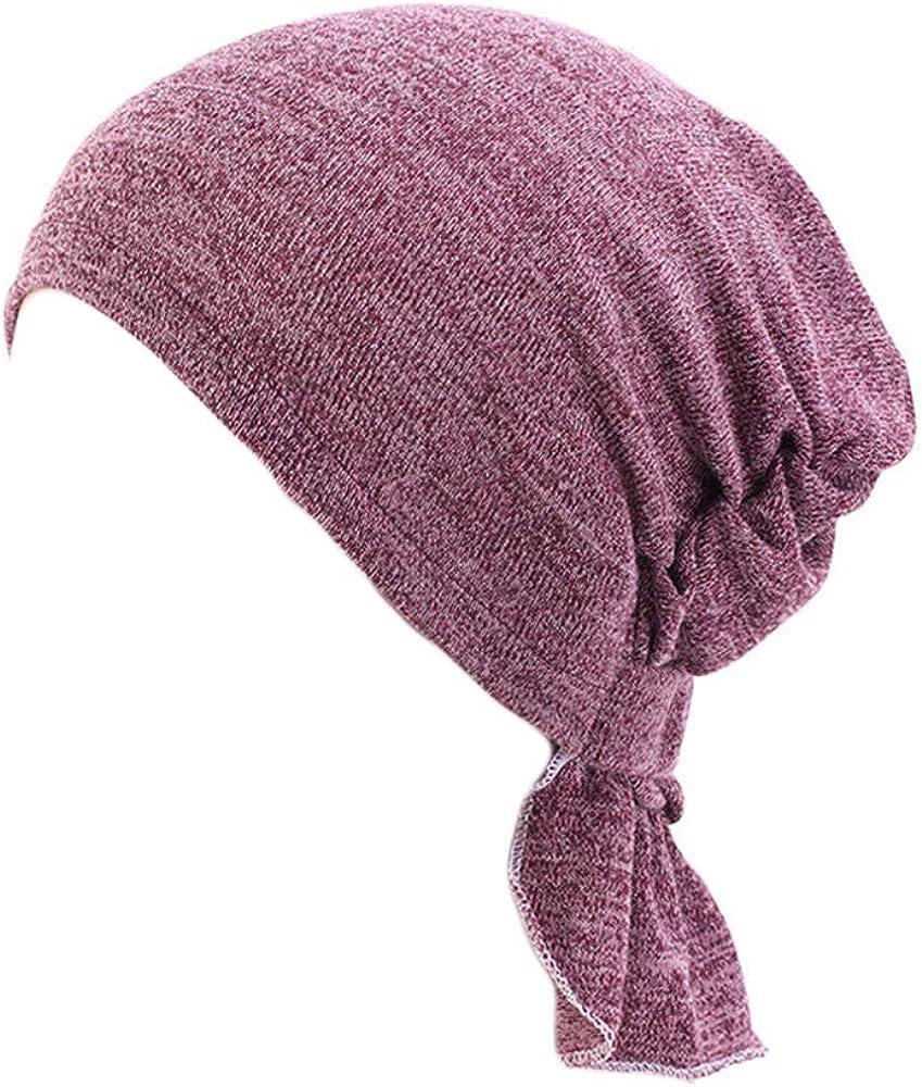 UK/_Stone Damen Unifarben Paisley Blumen Kette Ethnisch Turban M/ütze Chemo Kopft/ücher Haarverlust Kopfbedeckung Beanie