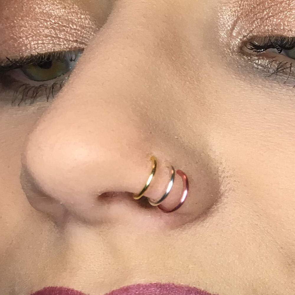 Amazon Com Faux Gold Silver And Rose Gold Clip On Tiny Nose