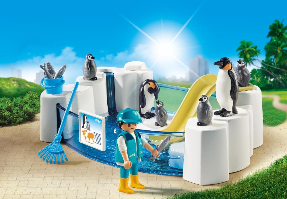 PLAYMOBIL/® Penguin Enclosure Building Set Playmobil Cranbury 9062