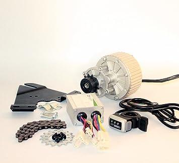 24V36V450W Bicicleta Eléctrica Lado Izquierdo Motor Motor Kit Kit de Conversión de Bicicleta de Montaña Kit de Motor Eléctrico Personalizado para bicicleta suspendida Wuxing thumb throttle (24V450W): Amazon.es: Deportes y aire libre