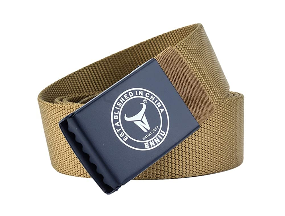 JANYN Male/'s New Outdoor Nylon Sports Canvas Belt Non-allergenic Casual Tactical Military Belt
