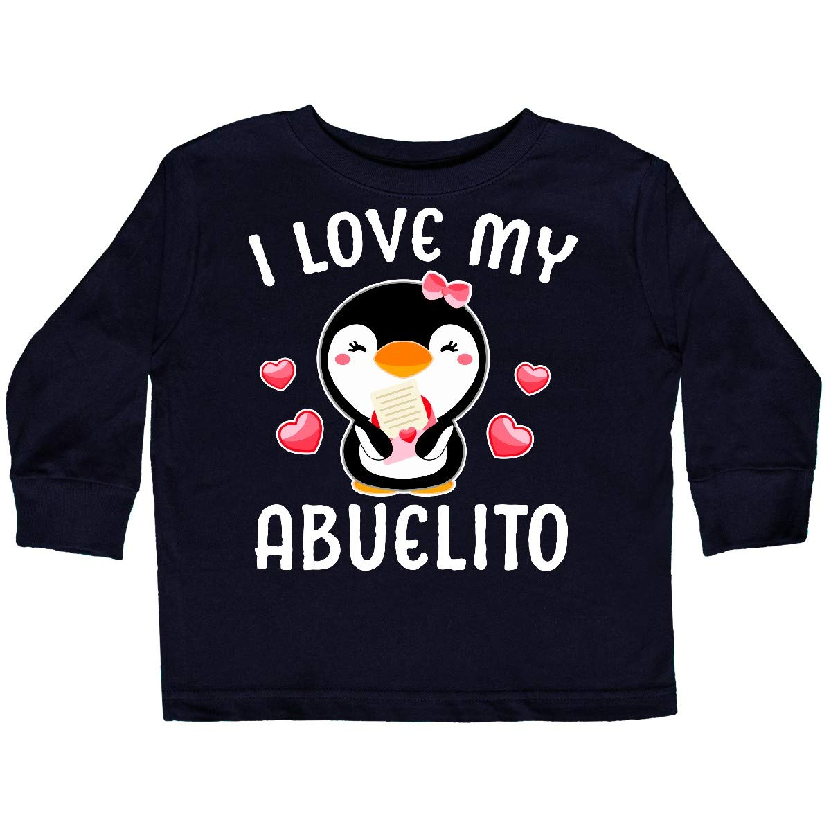 inktastic I Love My Abuelito with Cute Penguin and Toddler Long Sleeve T-Shirt