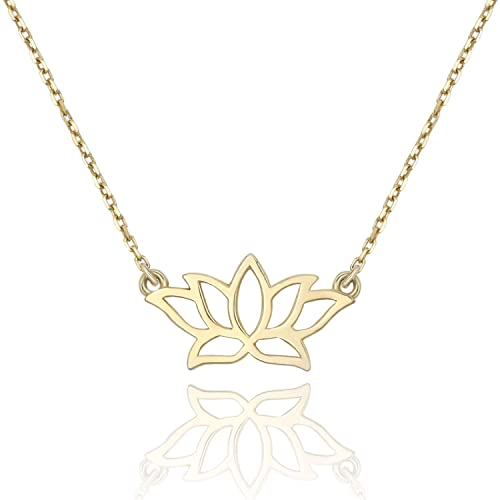 Amazon Lancharmed Lotus Flower Pendant 925 Sterling Silver