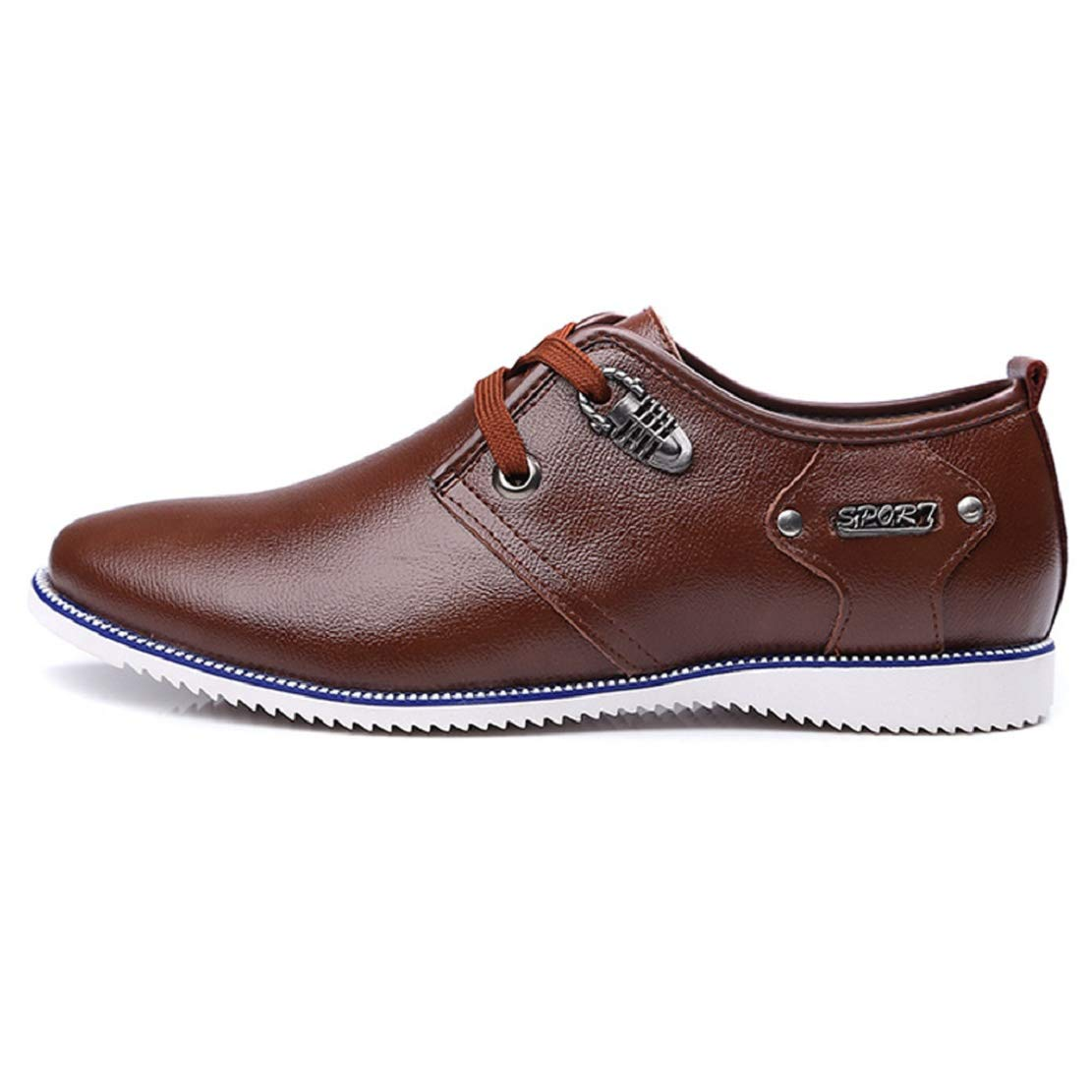 Men's Non Slip Lace up Wingtip Dress Shoes Fashion Leather Casual Driving Shoes Comfort Lined Fashion Shoes by Lowprofile Brown