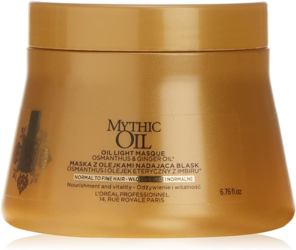 L 'Oreal Profesional Mythic Oil Mascarilla para cabello normal a fino, 200ml