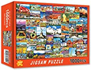 JUGROUPE 1000 Pieces Large Jigsaw Puzzles for Adults, 30×20 Inch Colorful Puzzles for Children and Teens Ages