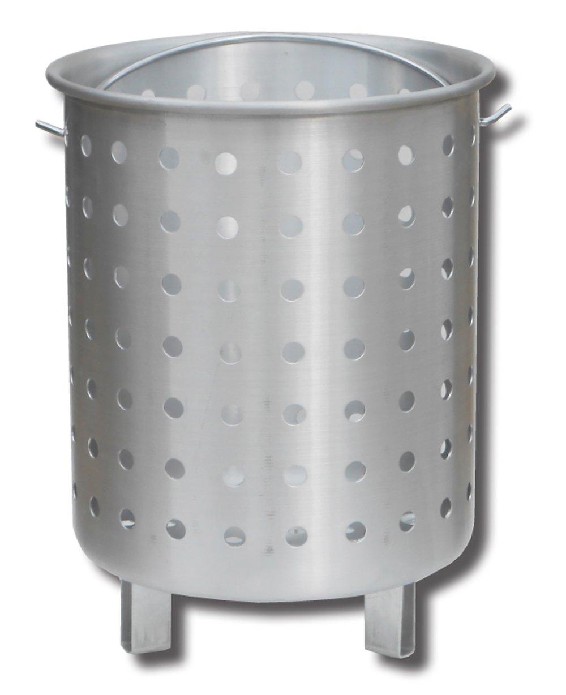 King Kooker 30FB Punched Aluminum Footed Basket, OS, Multi by King Kooker