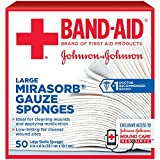 Band-Aid Brand Of First Aid Products Mirasorb Gauze Sponges, 4 Inches By 4 Inches, 50 Count