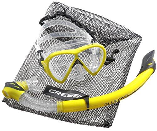 cressi Tauchset BONETE DELUXE 2-Set (Tauchmaske, Schnorchel & Netzbeutel) - Yellow