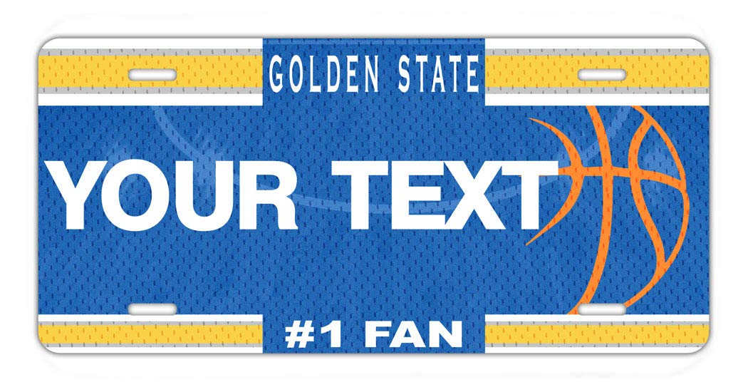 BRGiftShop Personalize Your Own Basketball Team Golden State Car Vehicle 6x12 License Plate Auto Tag
