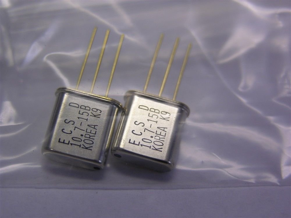 20 ECS 10.7MHz Matched Pair Monolithic Crystal Filters (10 Matched Pairs) by ECS