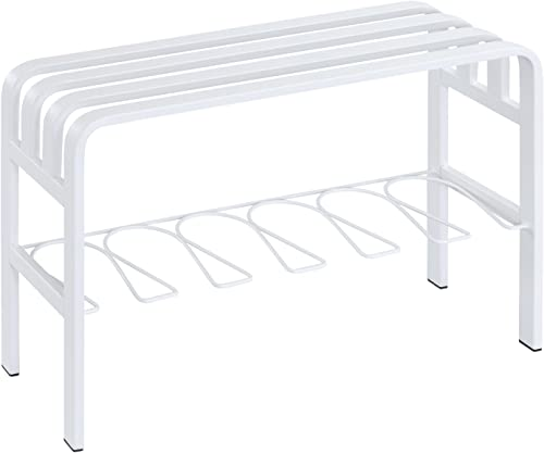 Proman Products Horizon White Door Entryway Bench, White, White