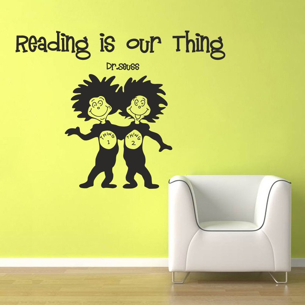 Wall Decal Quote Dr Seuss - Reading is our thing - Reading Room Kids ...